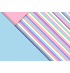 abstract striper paper cut decoration graphic vector image