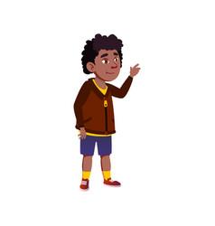 African boy child choosing candy in market cartoon vector