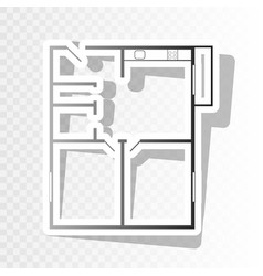 apartment house floor plans new year vector image