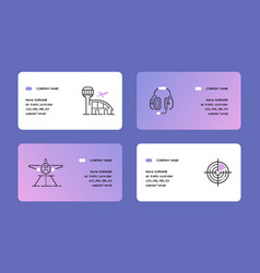 aviation business card flight crew vector image