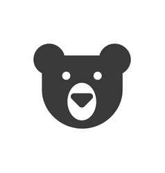 bear head icon vector image