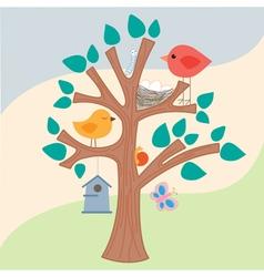 Birds Tree vector image vector image