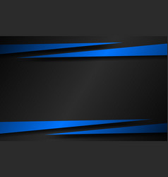 black background with blue arrows modern template vector image