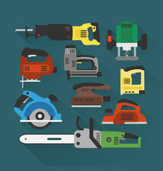 builders tools modern flat background vector image