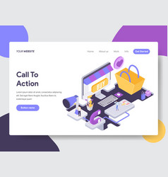 call to action isometric vector image