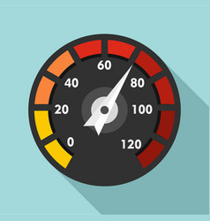 car speedometer icon flat style vector image