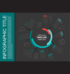 Circular infographic timeline template vector