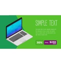 Clean design of laptop sale flyer vector image
