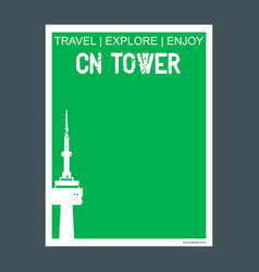 Cn tower toronto ontario monument landmark vector