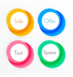 Coloful circle frames with copyspace vector