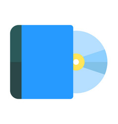 Compact disk or cd digital optical data storage vector