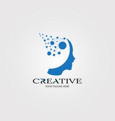 Creative mind icon templates logo technology vector
