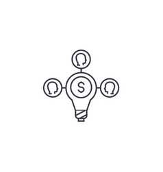 crowdsoursing line icon sign vector image
