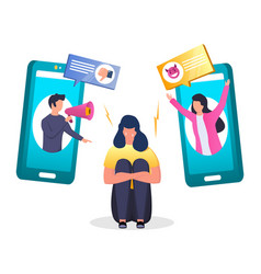 Cyberbullying concept for web banner vector