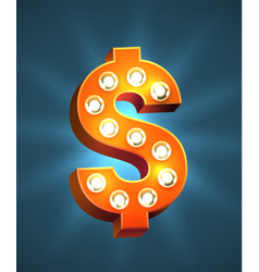 Decorated dollar sign vector