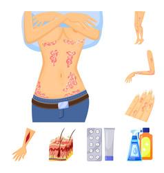 Design pain and dermatology symbol set vector