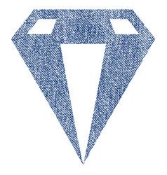 Diamond fabric textured icon vector