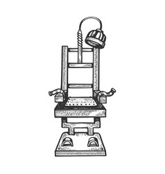 Electric chair engraving vector
