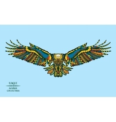entangle stylized eagle sketch for tattoo or t vector image