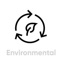 environmental icon editable stroke vector image