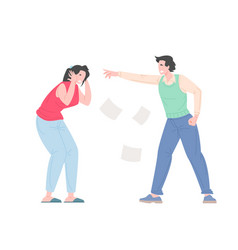 family bullying concept vector image