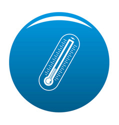fever thermometer icon blue vector image