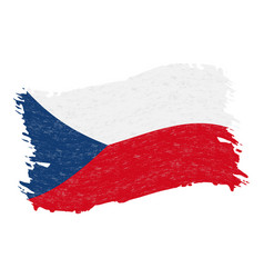 Flag of czech republic grunge abstract brush vector