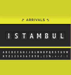 flight arrival destination in asia istambul vector image