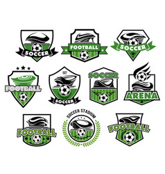 Football isolated icons of soccer balls vector