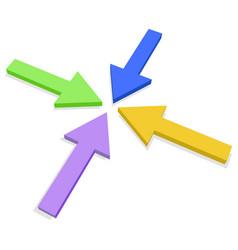 Four arrows vector