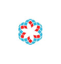 geometric flower logo vector image