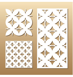 Geometric laser cut vector