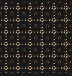 Geometric ornament background black and gold vector