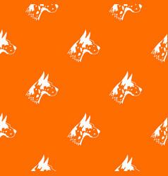Great dane dog pattern seamless vector