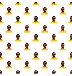 hip hop man pattern seamless vector image