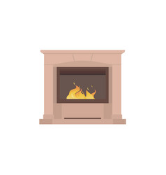 home fireplace to paste in the interior of the vector image