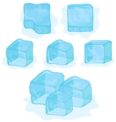 ice cubes on white background vector image