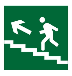Infographic of man on stairs icon vector image
