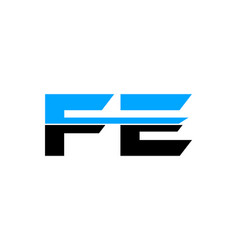 initial letter fe logo template design vector image