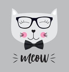 Little cute cat vector
