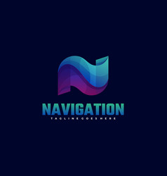 logo navigation gradient colorful style vector image