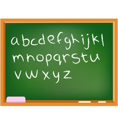 lower case chalkboard alphabet vector image
