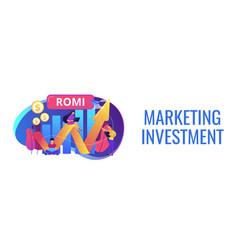 marketing investment concept banner header vector image