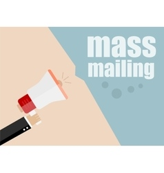 Mass mailing flat design business vector