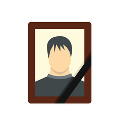 memory portrait icon flat style vector image