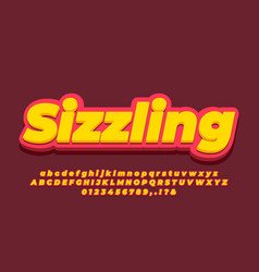 Modern 3d soft yellow and soft red text effect vector