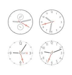 Modern digital watch dials vector