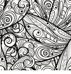 Monochrome pattern vector