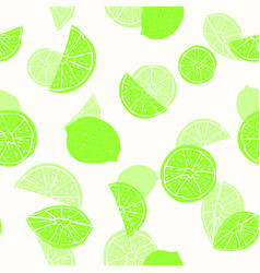 neon green hand drawn citrus fruit silhouettes vector image