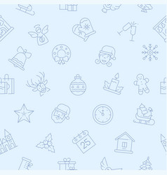 new year linear symbols seamless pattern vector image